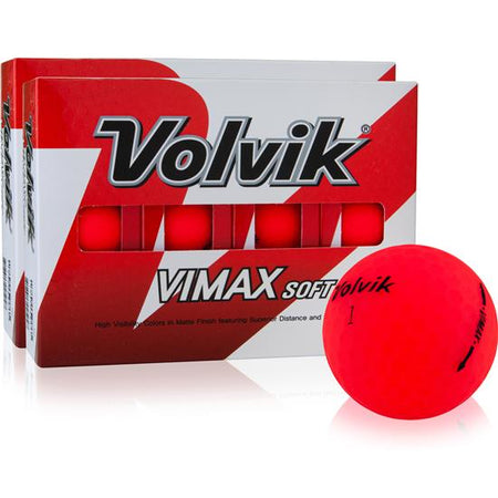 Volvik Vimax Soft Golf Balls - Red (2 DOZEN)