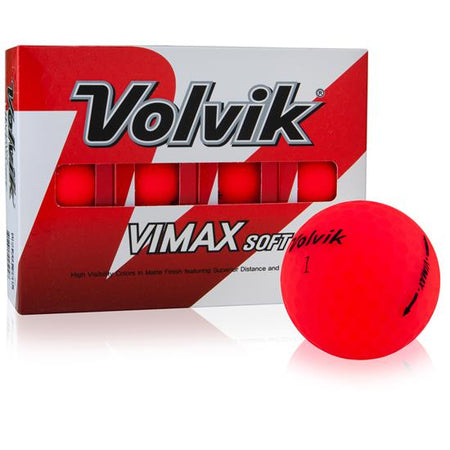 Volvik Vimax Soft Golf Balls - Red