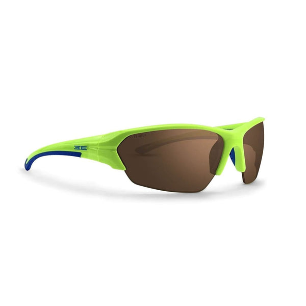Epoch 2 Golf Sunglasses Lime And Blue Frame High Clarity Brown Lens - Sunglasses