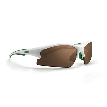 Epoch 1 Golf Sunglasses Green And White Frame High Clarity Brown Lens - Sunglasses
