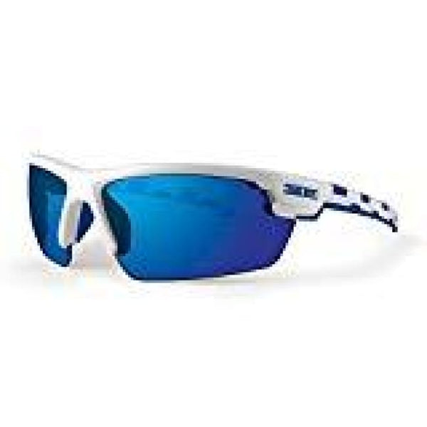 Epoch LINK Golf Sunglasses White and Blue Frame Blue Mirror Lens Sunglasses - Golf Country Online