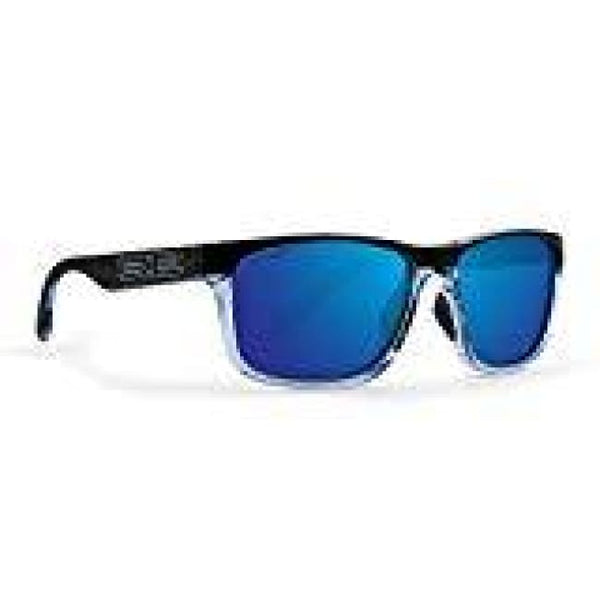 Epoch Delta Golf Sport Polarized Sunglasses Crystal Blue Black Frame With Smoke Lens And Crystal Blue Black Frame With Blue Mirror Lens