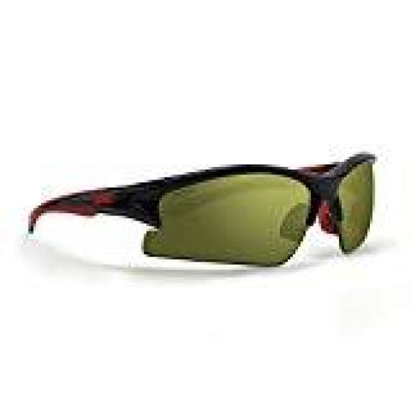 Epoch 1 Black/Red Polycarbonate Frame with High Clarity Green Lens Sunglasses - Golf Country Online