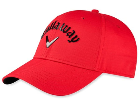 Callaway Golf Hat Liquid Metal (Adjustable, Red, Mens Headwear)