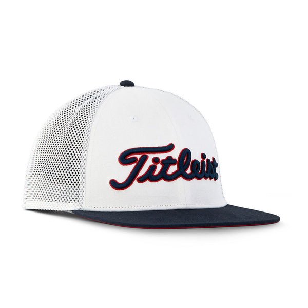 Titleist Golf- Stars & Stripes Tour Flat Bill Mesh Hat (White/Navy) - Golf Country Online