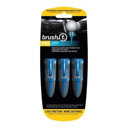 "Brush-T Pro Tees - Blue - 3 Pack - 2"" Height"
