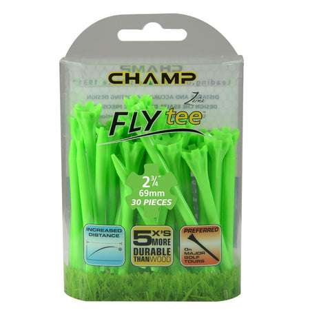 "Champ Zarma FLYtee - 2 3/4"" - Lime Green - Golf Country Online"