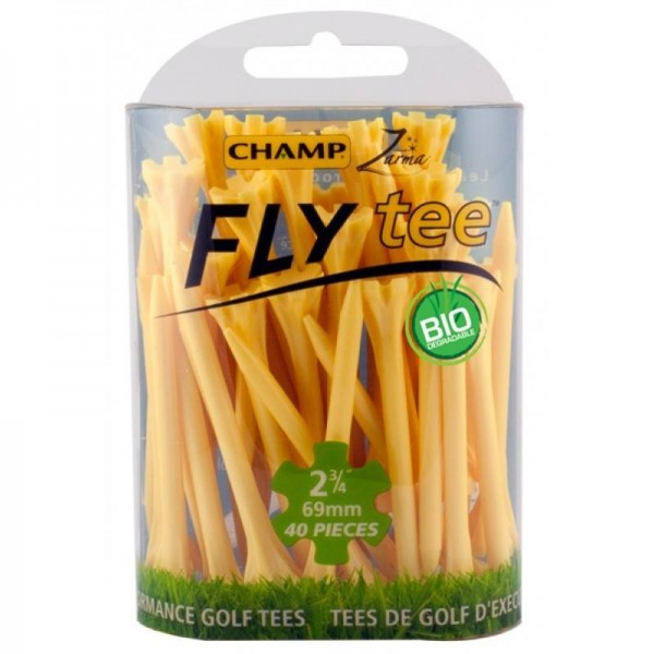CHAMP Zarma FLYtee, Yellow, 2 3/4-Inch - 30 pcs - Golf Country Online
