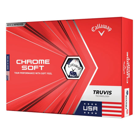 Callaway Chrome Soft Truvis USA Golf Balls - ONE DOZEN