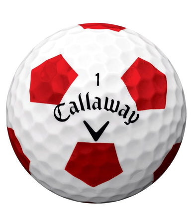Callaway Chrome Soft Truvis Technology Single Golf Ball (White/Red) - Golf Country Online