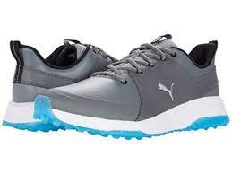 PUMA Golf- Grip Fusion Pro 3.0 Spikeless Shoes (Quiet ShadeSilver-Ibiza Blue)