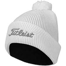 Titleist Pom Pom Winter Hat - WHITE - Golf Country Online