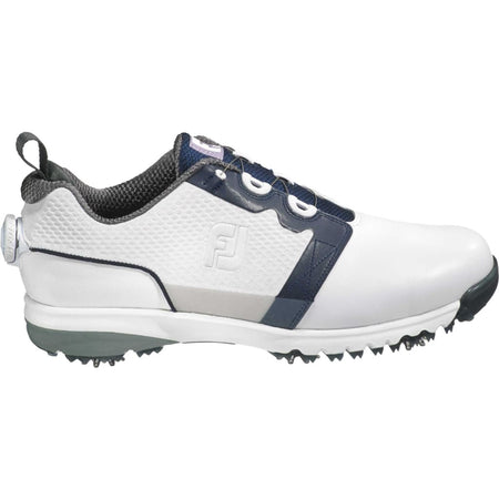 FOOTJOY CONTOUR FIT BOA GOLF SHOES WHITE/NAVY - (Blems #54099) - Golf Country Online