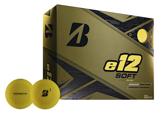 Bridgestone e12 SOFT Golf Balls Dozen Matte Yellow - Golf Country Online