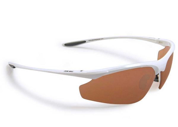 Epoch 6 Golf Sunglasses White Frame Amber Lens - Golf Country Online