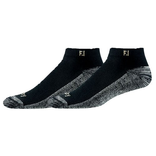 FootJoy ProDry Sport Cut Mens Socks - Black - 2 Pair - Golf Country Online