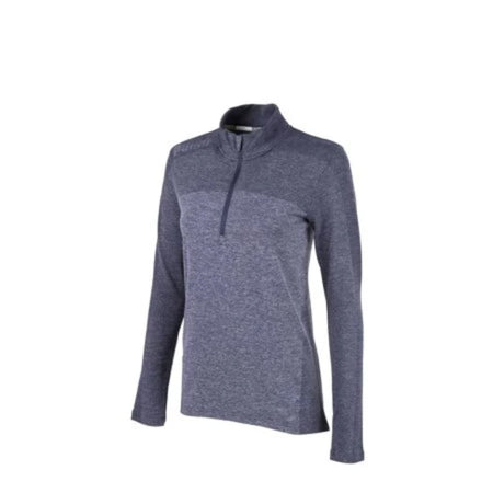PUMA Golf Women's Evoknit Seamless 1/4 Zip Outwear - Peacoat