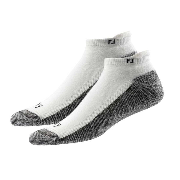 FootJoy Mens ProDry Roll Tab Socks (2 PAIRS)  - White - Golf Country Online