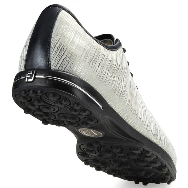 FootJoy Womens Tailored Collection Golf Shoes Gold/White Linen #91690 - Golf Country Online