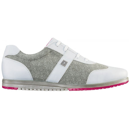 Footjoy Womens Casual Collection Golf Shoes 2017 White/gray Linen - 97717 - Golf Shoes