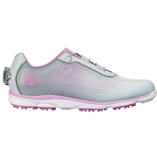 FootJoy Ladies emPower BOA Golf Shoes Silver/Lilac 98015 - Golf Country Online