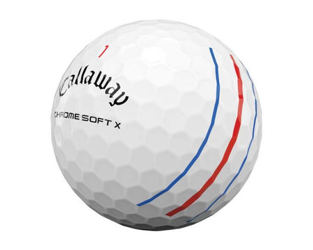 Callaway Chrome Soft X Golf Balls (Triple Track White) - ONE DOZEN