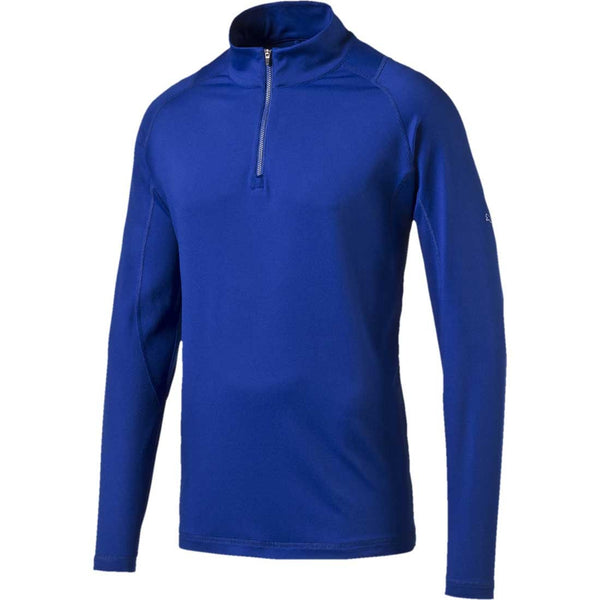 PUMA Golf Men's Crest Tech 1/4 Zip Popover Jacket, Surf The Web - Golf Country Online