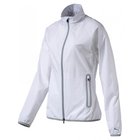 Puma Golf Women's Full Zip Wind Jacket - Bright White