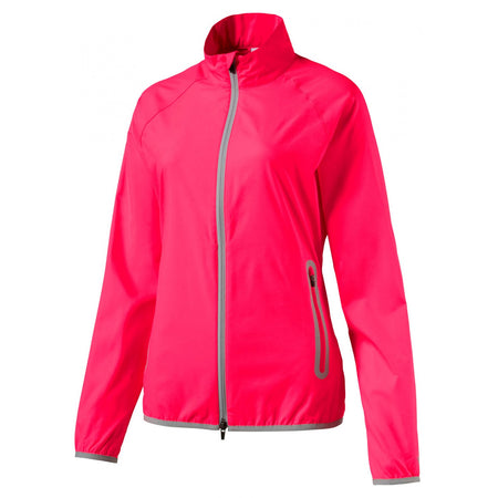 Puma Golf Women's Full Zip Wind Jacket - Bright Plasma