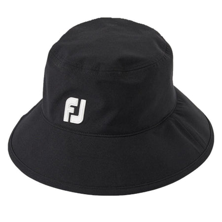 Footjoy Dryjoys Premium Waterproof Bucket Hat - Black - Choose Size - Golf Hats