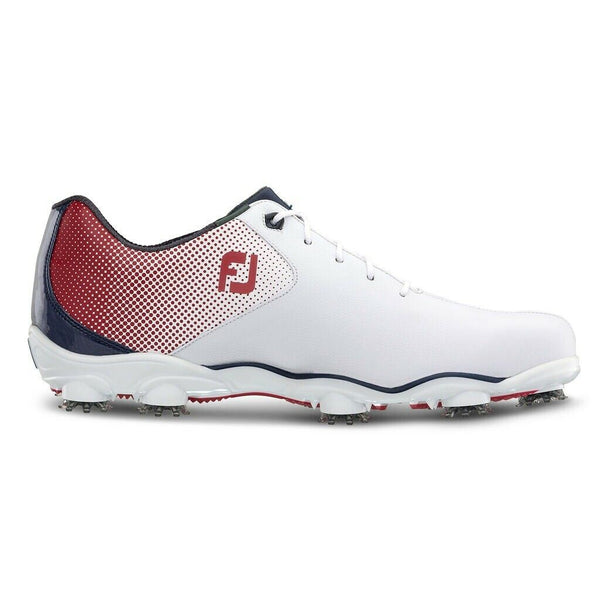 FootJoy D.N.A. Helix Golf Shoes - Red/White/Blue #53317 - Golf Country Online