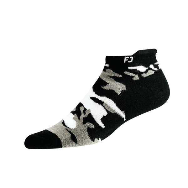 Footjoy Prodry Extreme Roll Tab Camo Golf Socks - Black - Golf Socks