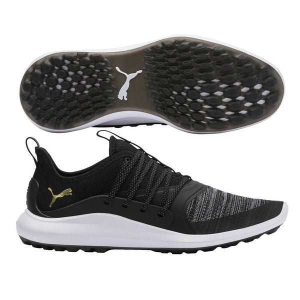 PUMA Men's Ignite Nxt Solelace Golf Shoe(192224 01) Black/Gold - Golf Country Online