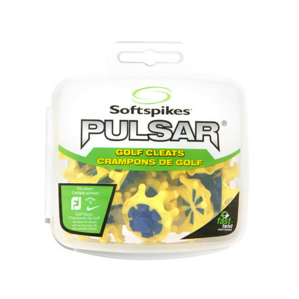 PULSAR YELLOW FAST TWIST GOLF SPIKES/CLEATS