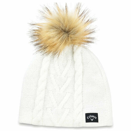 Callaway Golf 2019 Women's Pom Pom Beanie - Cream/White