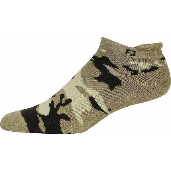 Footjoy Prodry Extreme Roll Tab Camo Golf Socks - Oatmeal - Golf Socks