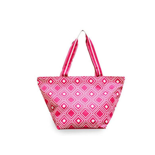 All For Color Large Tote Bag - Pink/White - Golf Country Online