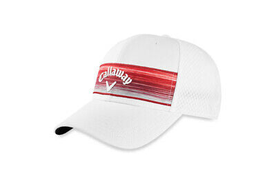 Callaway Golf 2020 Stripe Mesh Adjustable Hat - WHITE/RED - Golf Country Online