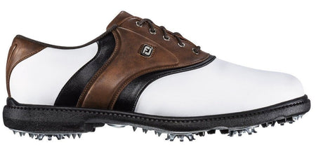 FOOTJOY FJ ORIGINALS GOLF SHOES WHITE/BROWN - #45330 - Golf Country Online