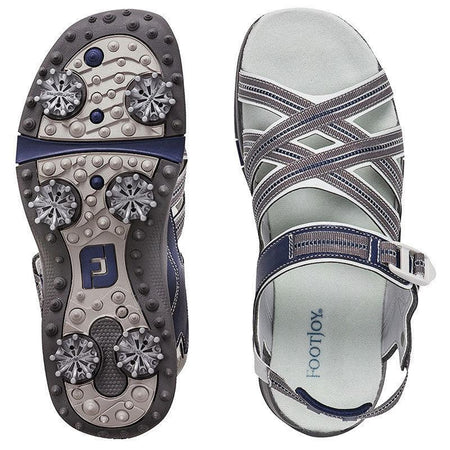 FootJoy Women's Sport Golf Sandals (5, Grey/Navy-M) - Golf Country Online