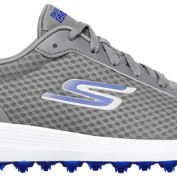SKECHERS MEN'S MAX GOLF SHOE - GREY/BLUE MESH (54554EWWGYBL)