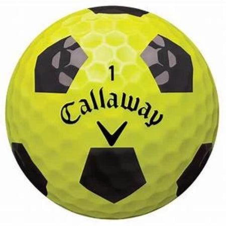 Callaway Chrome Soft Truvis Technology Single Golf Ball (Yellow/Black) - Golf Country Online