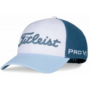 Titleist Tour Performance Mesh Trend Collection Golf Hat - Storm/Sky/White