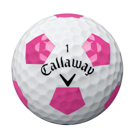 Callaway Chrome Soft Truvis Technology Single Golf Ball (White/Pink) - Golf Country Online