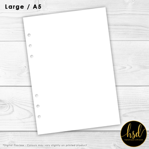 Blank Pages | A5 Planner Insert | 10+ Pages