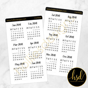 CALP0044 | Mini Calendars | 12 Months | 2-Sheet-Pack [Square]