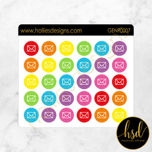 GENP0007 | Reminder Icons | Envelope / Mail | 2 Colour Options