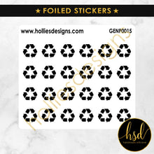 FOILED | GENP0015 | Outline Reminder Icons | Recycle