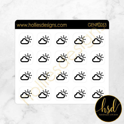 GENP0053 | Weather Icons | Partly Cloudy
