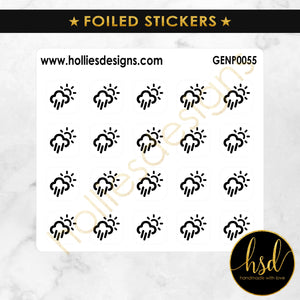 FOILED | GENP0055 | Weather Icons | Scattered Showers